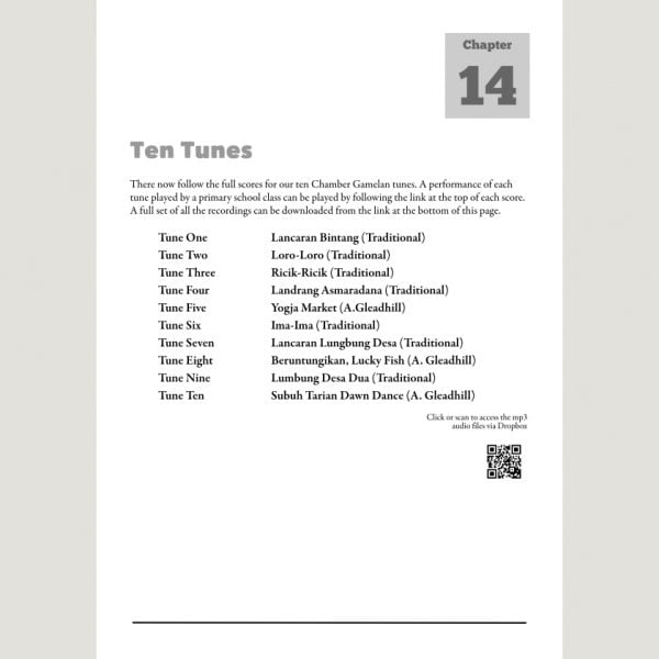 Image showing Ten Tunes from Andy Gleadhill's Indonesian Gamelan Book