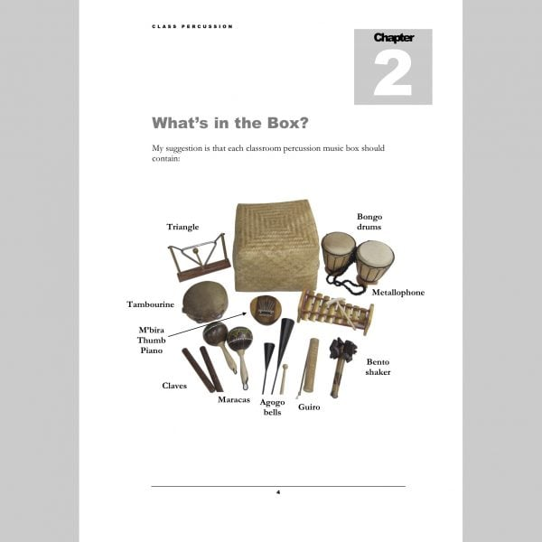 Image showing In box page from Andy Gleadhill's Class Percussion.