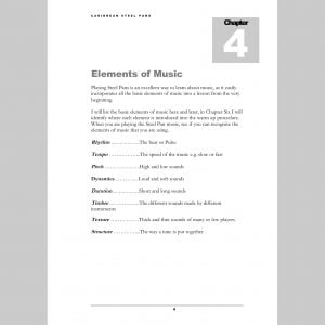Image showing a page about the Elements of Music from Andy Gleadhill's Caribbean Steel Pans teaching guide
