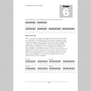 Image showing a page of Repeat After Me exercises from Andy Gleadhill's Caribbean Steel Pans teaching guide