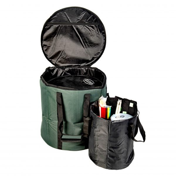 This is product image of Drums for Schools' storage carry bag for inside 16 inch diameter surdo, opened.