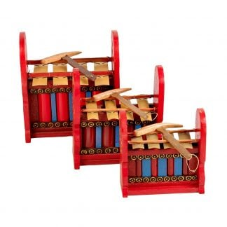 This is a product image of Drums for Schools Set of Gamelan Budget 4 key - Small, Medium, Large.