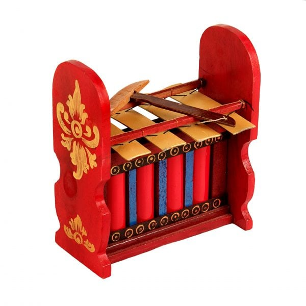 This is a product image of Drums for Schools Gamelan Budget Large 4 key, from different angle.