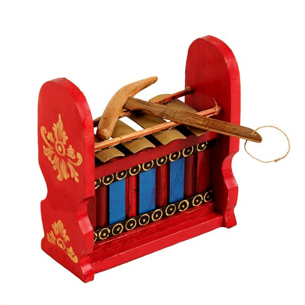 This is a product image of Drums for Schools Gamelan Budget Small 4 key, from different angle.