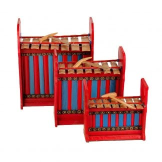 This is a product image of Drums for Schools Set of Gamelan Budget 7 key - Small, Medium, Large.