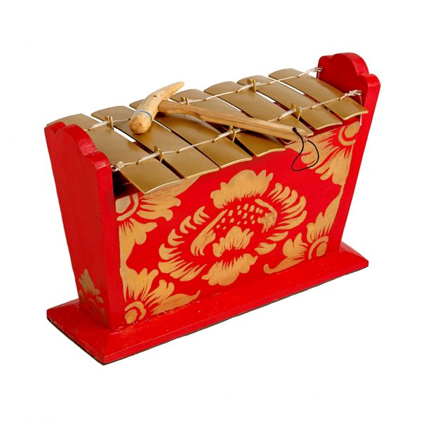This is a product image of Drums for Schools Gamelan Medium Small 7 key, from different angle.