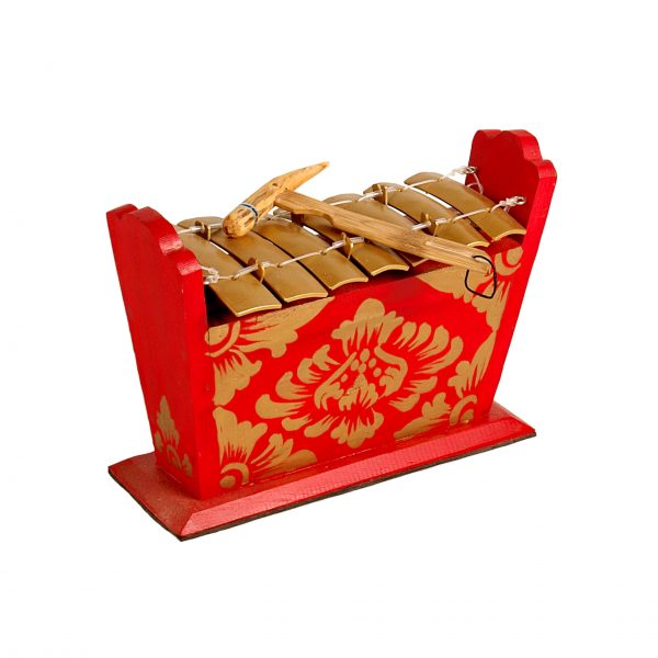 This is a product image of Drums for Schools Gamelan Standard Small 7 key, from different angle.