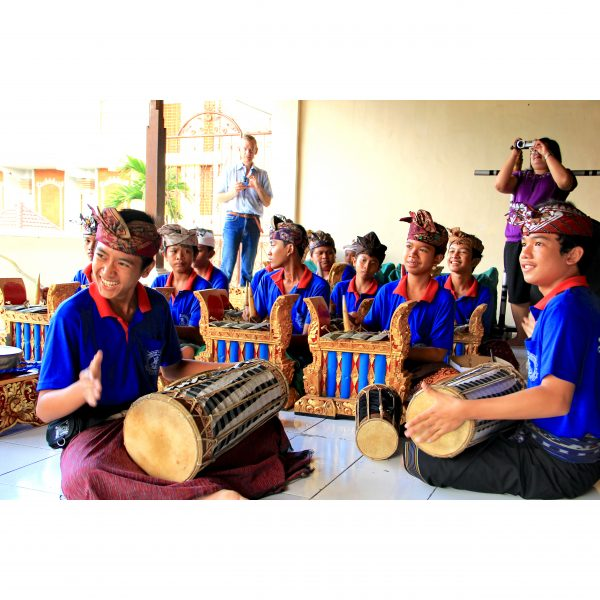 Indonesian Gamelan anklung group Dwijendra High