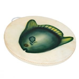 This is a product image of Drums for Schools 40cm diameter ocean drum with airbrushed detail