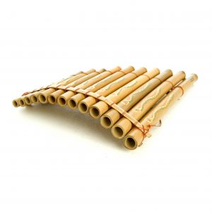 This is a product image of Drums for Schools bamboo panpipes with 13 notes