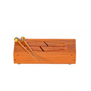 This is a product image of Drums for Schools tongue drum with four different notes
