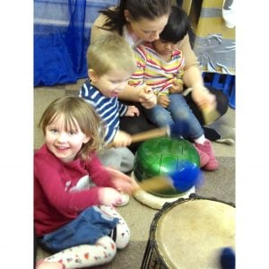 Image of children playing Drums for Schools' Dream Drum Kit