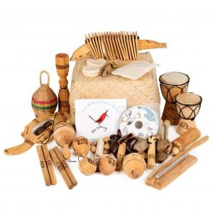 This is a product image of Little Birdsong Treasure basket - 22 instruments.