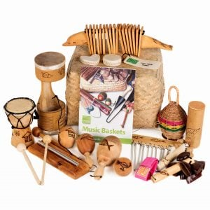 This is a product image of Drums for Schools' Little Hands Basket - 15 instruments.