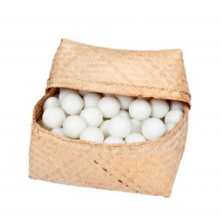This is a product image of a basket of 100 ping pong balls
