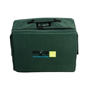 This is a product image of Drums for Schools small size storage bag for percussion with Sing Up logo