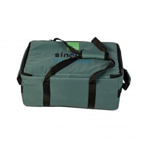 image showing  of handle details of Drums for Schools small size storage bag for percussion with Sing Up logo