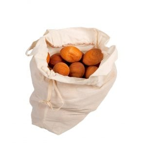 This is a product image of Drums for Schools 50 natural egg shakers in a bag