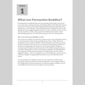 Image of a page from Andy Gleadhill Percussion Buddies - What Are Percussion Buddies