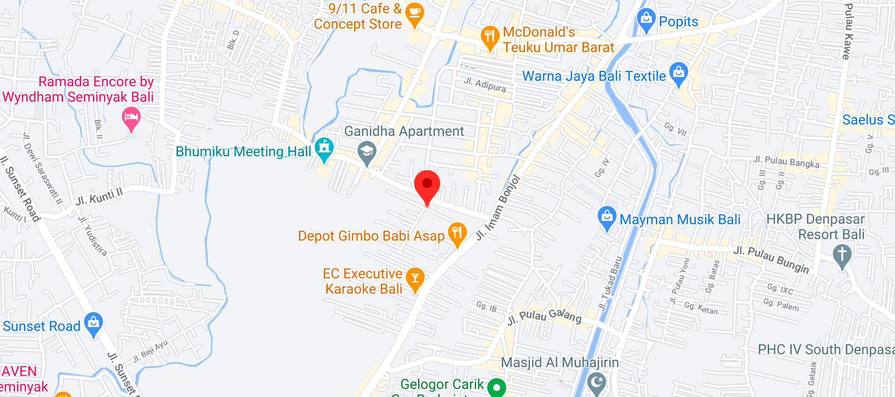 Link to google map of address