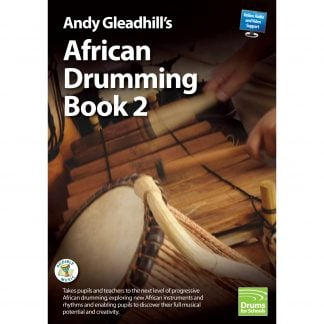 This is a product image of the front cover of Andy Gleadhill's African Drumming Book 2.
