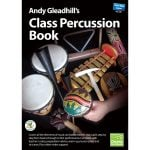 This is a product image of the front cover of Andy Gleadhill's Class Percussion Book.